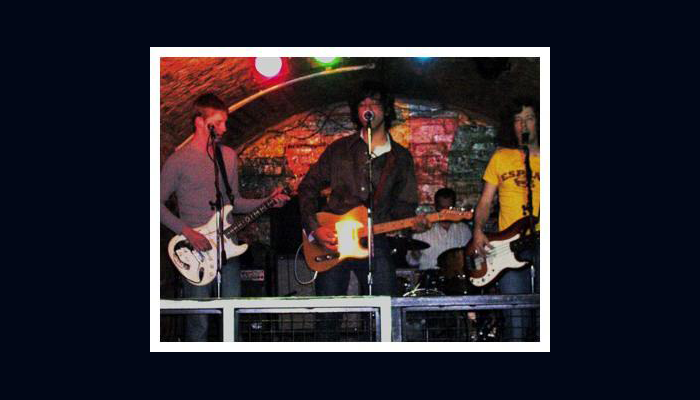 Ted Russell Kamp with Eugene Edwards at the Cavern Club, Liverpool, UK in 2004