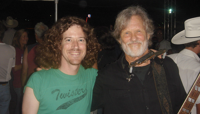 Ted Russell Kamp with Kris Kristofferson