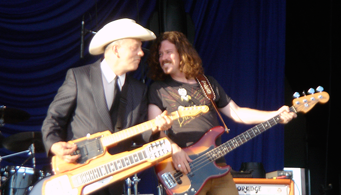 Ted Russell Kamp with  Junior Brown