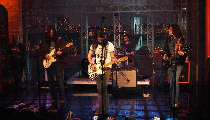 Ted Russell Kamp with Shooter Jennings on David Letterman.