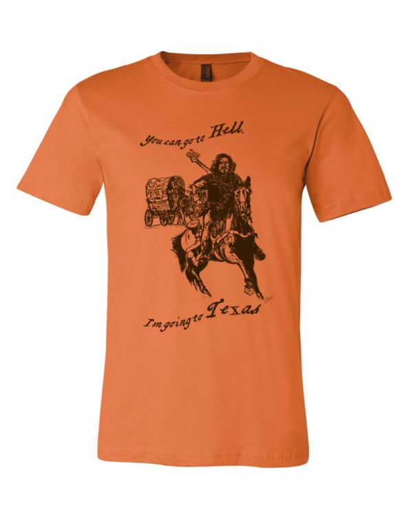 Texas t-shirt men's burnt orange