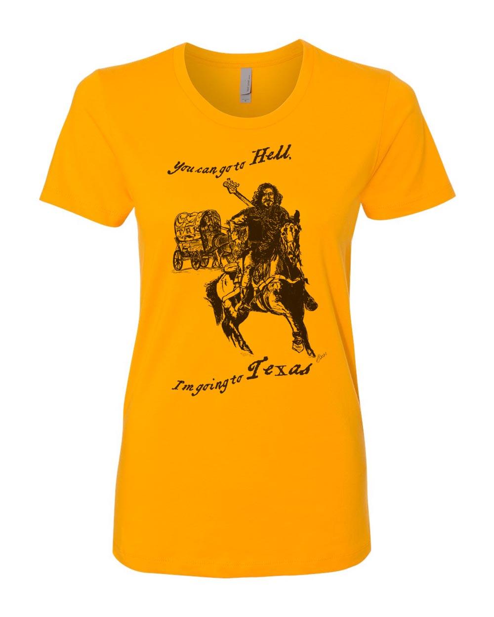 Texas t-shirt women's gold