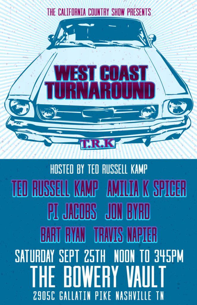 West Coast Turnaround Americanafest Poster